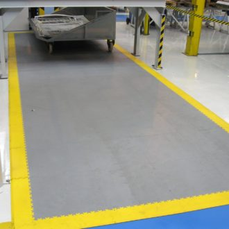 Mark the paths in your warehouse with tiles