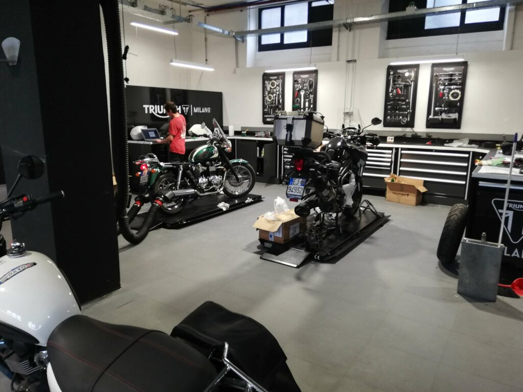 Motorcycle store, Italy
