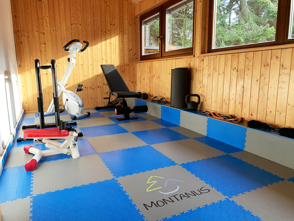 Fitness room at Montanus Apartments, Czech Republic