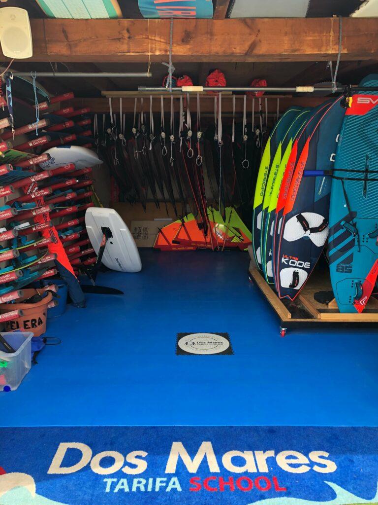 Surfboard rental shop, Spain